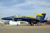 163130 @ KCNO - F/A-18B Hornet 163130 C/N 0150 from Blue Angels Demo Team  NAS Pensacola, FL - by Dariusz Jezewski www.FotoDj.com