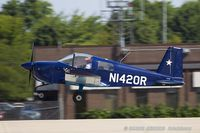 N1420R @ KOSH - Grumman American AA-1B Trainer  C/N AA1B-0520, N1420R - by Dariusz Jezewski www.FotoDj.com