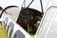 N57486 @ KOSH - Cockpit of Consolidated Vultee BT-13A  Valiant Playmate C/N 5665, N57486