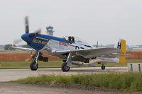 N7551T @ KYIP - North American P-51D Mustang Hell-er Bust   C/N 44-72438, N7551T