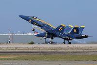 163106 @ KOQU - F/A-18A Hornet 163106 C/N 0495 from Blue Angels Demo Team  NAS Pensacola, FL - by Dariusz Jezewski www.FotoDj.com