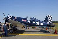 N83JC @ KCEF - Goodyear FG-1D Corsair Skyboss  C/N 67089, NX83JC