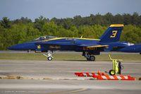 163498 @ KCEF - F/A-18C Hornet 163498 C/N 0737 from Blue Angels Demo Team  NAS Pensacola, FL - by Dariusz Jezewski www.FotoDj.com