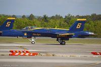 163491 @ KCEF - F/A-18C Hornet 163491 C/N 0727 from Blue Angels Demo Team  NAS Pensacola, FL - by Dariusz Jezewski www.FotoDj.com