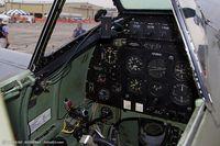 N730MJ @ KYIP - Cickpit of Supermarine Spitfire Mk IX  C/N CBAF 7243, N730MJ