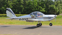 G-CEVS @ EGCW - Departing Welshpool. - by BRIAN NICHOLAS