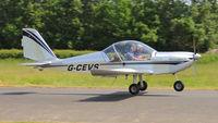G-CEVS @ EGCW - Departing Welshpool. - by BRIAN NICHOLAS