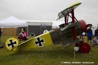 N454LR @ KOSH - Fokker Dr.1 Triplane (replica)  C/N 2079, NX454LR