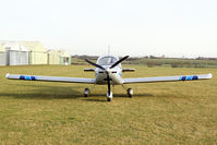 G-CHJG @ X5FB - Cosmik EV-97 TeamEurostar UK at Fishburn Airfield, UK. February 7th 2025. - by Malcolm Clarke