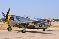 N47DM @ MAN - P-47D Thunderbolt taxing out to RWY 29. - by Gerald Howard