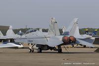 166633 @ KOSH - F/A-18F Super Hornet 166633 AA-107 from VFA-11 Red Rippers  NAS Oceana, VA - by Dariusz Jezewski www.FotoDj.com