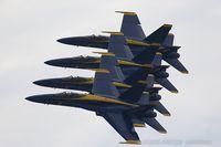 163485 @ KOSH - F/A-18C Hornet 163485  from Blue Angels Demo Team  NAS Oceana, VA - by Dariusz Jezewski www.FotoDj.com