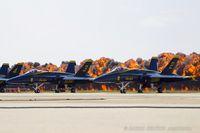 163435 @ KOSH - F/A-18C Hornet 163435 C/N 0634 from Blue Angels Demo Team  NAS Pensacola, FL - by Dariusz Jezewski www.FotoDj.com