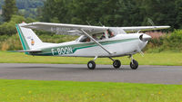 F-BOQN @ EGCW - Stopover at Welshpool now on to Liverpool. - by BRIAN NICHOLAS