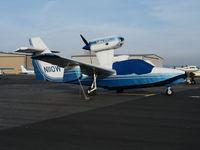 N110W @ KLHM - Seabird Inc., Hamilton, MT-based Aerofab Lake 250 under cover @ Lincoln Regional Airport (Karl Harder Field), CA - by Steve Nation