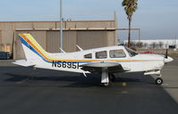 N56951 @ KLHM - Locally-based 1973 PA-28R-200 Cherokee Arrow II @ Lincoln Regional Airport (Karl Harder Field), CA - by Steve Nation