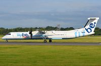 G-FLBA @ EGCC - Flybe DHC8 departing MAN - by FerryPNL