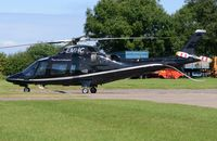 G-EMHC @ EGNX - East Midlands Helicopter A109 at Costock - by FerryPNL