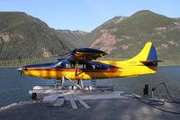 C-GUDK @ CBF8 - On the water of Muncho Lake at Northern Rockies Lodge, BC. - by Murray Lundberg