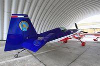 F-TGCJ @ LFBD - Extra 330SC, French Air Force aerobatic team, Static display, Bordeaux-Mérignac Air Base 106 (LFBD-BOD)  Open day 2017 - by Yves-Q