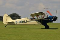 G-BBHJ @ EGBK - G BBHJ - Piper J3C 65 Cub landing at Sywell for the 2017 LAA rally - by dave226688