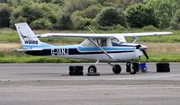 G-IANJ @ EGFH - Visiting F150K operated by Fly Wales Flight Training. - by Roger Winser