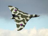 G-VLCN @ EGCM - XH558 seen at RAF Church Fenton, Leeds, for one its last flights. - by Curtis Smith