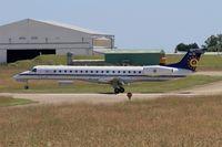 CE-03 @ LFRJ - Embraer ERJ-145LR, Landing rwy 08, Landivisiau Naval Air Base (LFRJ) - by Yves-Q