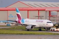 D-AGWU @ EGSH - Towed from paint with Eurowings colour scheme. - by keithnewsome
