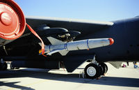 60-0050 @ KEDW - On static display at the Edwards Open House 1996, with an AGM-142 missile on the pylon. - by kenvidkid