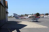 N1323N @ SZP - 2006 Cessna T182T TURBO SKYLANE, Lycoming TIO-540-AK1A 235 Hp, CS prop, outside the aircraft paint hangar - by Doug Robertson