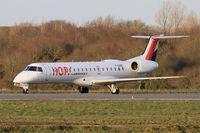 F-GUBC @ LFRB - Embraer ERJ-145LR, Ready to take off rwy 25L, Brest-Bretagne airport (LFRB-BES) - by Yves-Q