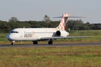 EI-EXI @ LFRB - Boeing 717-2BL, Taxiing to holding point rwy 07R, Brest-Bretagne airport (LFRB-BES) - by Yves-Q