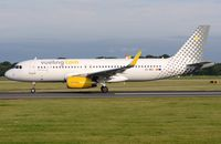 EC-MDZ @ EGCC - Vueling A320 during its take-off run. - by FerryPNL