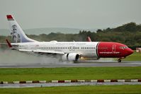 LN-DYU @ EGCC - just landed on an wet runway 23R - by andysantini