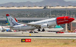 LN-NIA @ LEMG - departure from Malaga