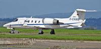D-CAMB @ EGFF - Learjet 35A, seen parked up. - by Derek Flewin