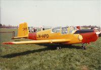 LN-HPD @ ESSL - LN-HPD celebrating Linköping Aero Club 50 years - 1983-05-08. - by janhed1