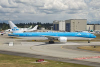 PH-BVR @ KPAE - 'Gunung Mulu National Park' lined up on Rwy 16R at Paine Field.