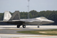 09-4187 @ KDOV - F-22 Raptor 09-4187 FF from 94th FS Hat in the Ring 1st FW Langley AFB, VA