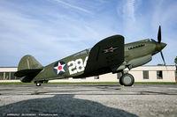 N284CF @ KYIP - Curtiss P-40B Warhawk  C/N 16073, NX284CF