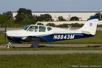 N8843M @ KOSH - Beech 35-B33 Debonair  C/N CD-739, N8843M