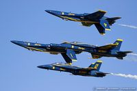 163768 @ KOSH - F/A-18C Hornet 163768 C/N 0848 from Blue Angels Demo Team  NAS Pensacola, FL - by Dariusz Jezewski www.FotoDj.com