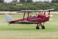 G-ACDA @ EGTH - De Havilland DH82A Tiger Moth G-ACDA Gathering of Moths Old Warden 30/7/17 - by Grahame Wills