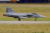 9236 @ LFRJ - Saab JAS-39C Gripen, Taxiing to flight line, Landivisiau Naval Air Base (LFRJ) Tiger Meet 2017 - by Yves-Q