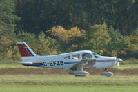 D-EFZB @ EDWN - Piper PA-28-161 Warrior II taking off from Klausheide (Nordhorn-Lingen) airfield, Germany - by Van Propeller