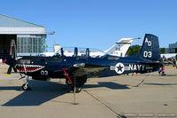160646 @ KNTU - T-34C Turbo Mentor 160646 AD-03 from VF-101 'Grim Rippers' NAS Oceana, VA
