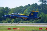 161943 @ KNTU - F/A-18B Hornet 161943 C/N 0150 from Blue Angels Demo Team  NAS Pensacola, FL - by Dariusz Jezewski www.FotoDj.com