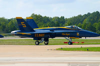 161959 @ KNTU - F/A-18A Hornet 161959 C/N 0170 from Blue Angels Demo Team  NAS Pensacola, FL - by Dariusz Jezewski www.FotoDj.com