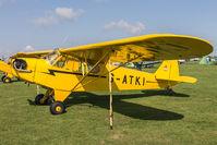 G-ATKI @ EGBK - Piper J-3C-65 Cub G-ATKI Light Aircraft Association Rally 2017 - by Grahame Wills